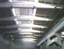 Абразивоструйная очистка бетонного потолка и конструкции каркаса здания