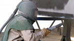 Пескоструйная очистка стальных опор Красноярск